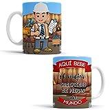 OyC Original y Creativo Taza para Ingeniero de Minas - Taza Aquí Bebe el Mejor Ingeniero de Minas del Mundo - Taza con Frase y Dibujo (Ingeniero de Minas)