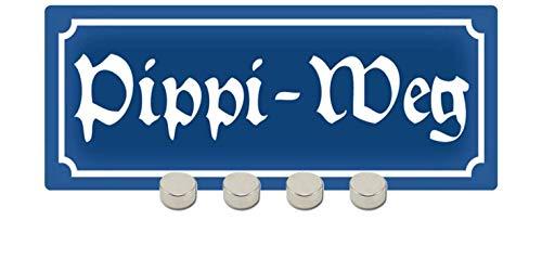 Generisch Nostalgie Pipi - Cartel de metal con 4 imanes, 10 x 27 cm