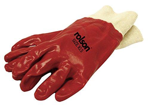 Rolson 60628 PVC trempés poignet tricot GANTS