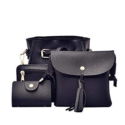 Oguine 4pcs Women Fashion Composite Bag Handbag Wallet Shoulder Crossbody Bags