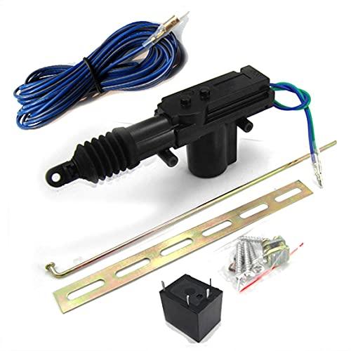 KoelrMsd Actuador de Cerradura Central de Puerta de Coche Universal Bloqueo automático Motor de 2 Cables relé de Cuatro pies Kit de Sistema de Entrada de actuador de Cerradura de Puerta de Coche