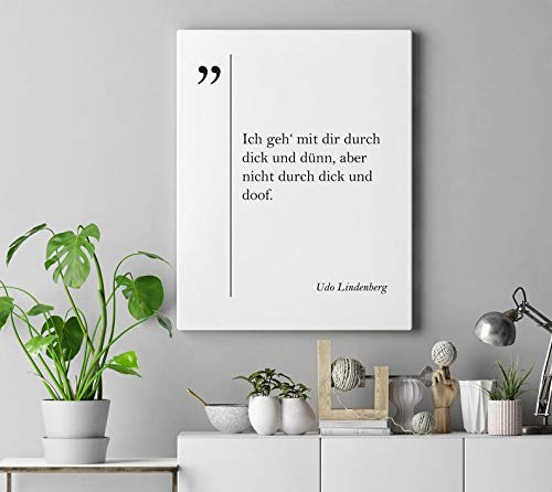 cwb2jcwb2jcwb2j Canvas Print UDO Lindenberg Quote Deutsche Zitaten German Quotes German Wall Art German Rock Quotes Coworker Gift Wife Gift Husband Gift