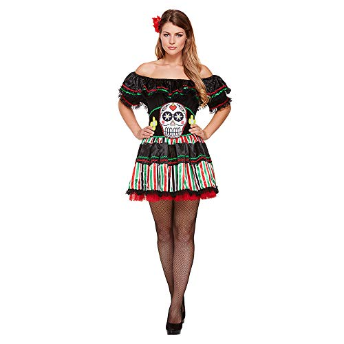 Henbrant Señorita Day of The Dead Costume (Multicoloured)