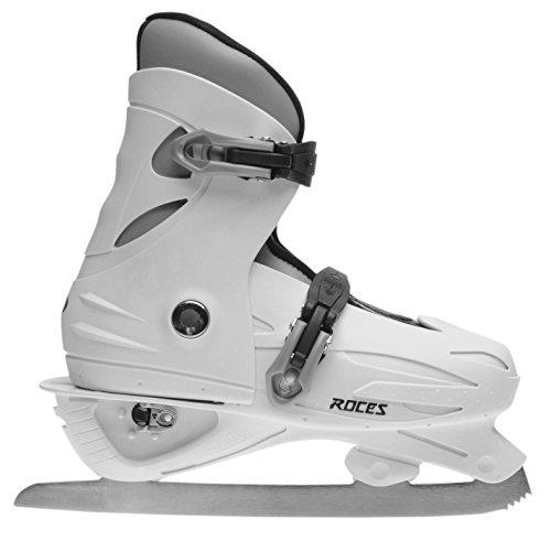 Roces Kinder Mädchen MCK II Schlittschuhe Verstellbar Eislauf Wintersport Weiß/Schwarz 36-40