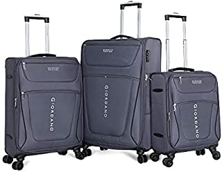 Giordano Luggage Trolley Bags For Unisex 3 Pcs, Grey, 744032