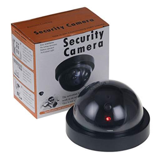Cámara de seguridad falsa inalámbrica para vigilancia en el hogar CCTV domo interior y exterior falsa cámara de simulación de hemisferio