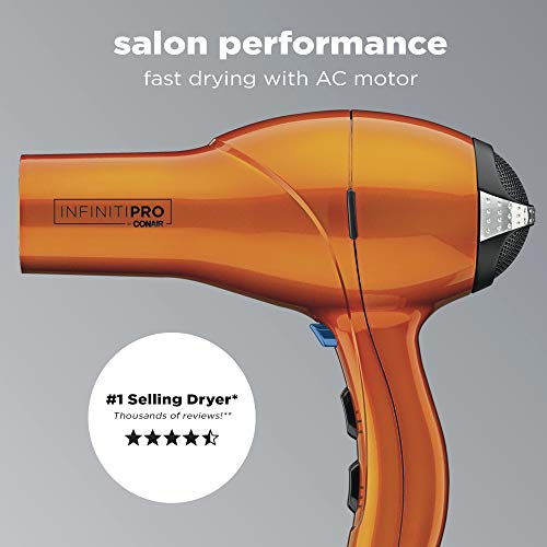 INFINITIPRO BY CONAIR 1875 Watt Salon Performance AC Motor Styling Tool/Hair Dryer, Orange