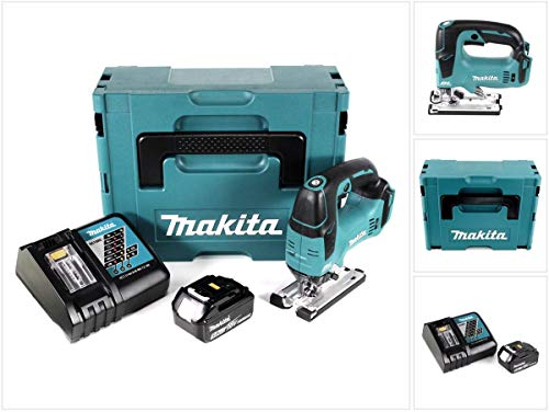 Makita DJV 182rt1j Sierra caladora 18V Brushless 26mm en Makpac con 1x bl1850b 5,0Ah Batería Y Cargador Dc18Rc