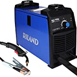 Riland FCAW MIG100E, 30-90 Amp Flux Core Wire Feed MIG Welder and Torch, 120V, 12 LBS, Easy Operation (expert welding parameters built-in and one knob adjustment)