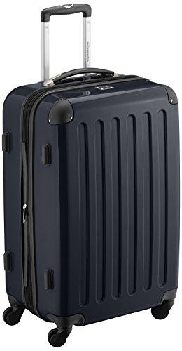 HAUPTSTADTKOFFER - Alex - Hartschalen-Koffer Koffer Trolley Rollkoffer Reisekoffer Erweiterbar, 4 Rollen, 65 cm, 74 Liter, Schwarz