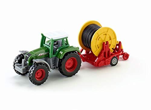 siku 1677, Fendt Traktor mit Bewässerungshaspel, Metall/Kunststoff, Multicolor, Abnehmbare Verteilerspritze