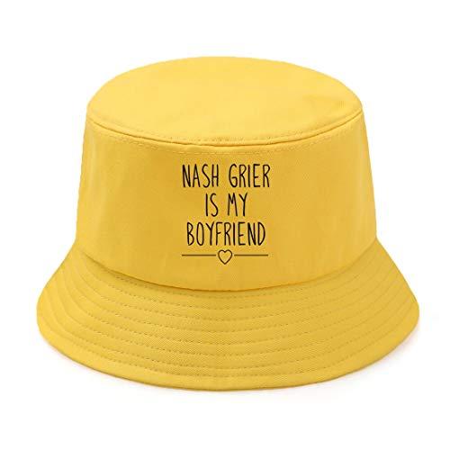 JXWH Visera de Sol para Hombre Sombrero de Pesca de Pescador Sombrero de Cubo de Moda Sombrero de Cubo Plegable al Aire Libre Informal para Hombre 59-60