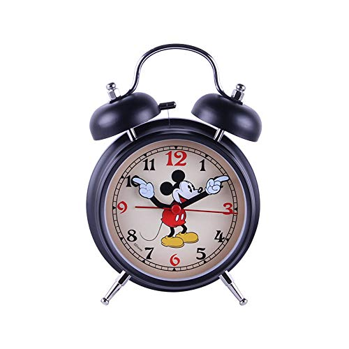 GYHJG Reloj Despertador para Niños De Dibujos Animados Lindo De 4 Pulgadas, Reloj De Alarma De Metal Minimalista De Moda, Reloj Silencioso para Estudiantes