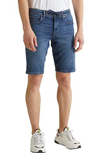 edc by ESPRIT Herren 030CC2C307 Shorts, 902/BLUE MEDIUM WASH, 33