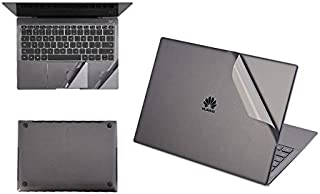 【YOUNGE】Huawei MateBook X Pro フィルム 保護フィルムキット 本体/背面/パッド保護一式 プロテクターフィルムステッカー MateBook X Proフィルムステッカー MateBook X Pro背面保護フィルム 本体保護フィルム 後の保護フィルム マイクロソフト サータブレットPC ケースアクセサリー カバー ステッカー (Huawei MateBook X Pro, ダークグレー)
