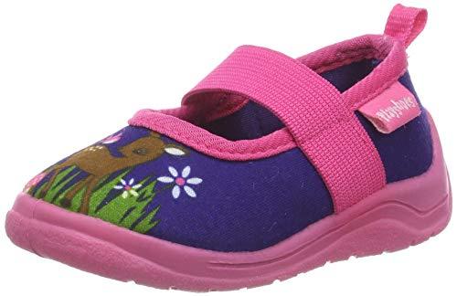 Playshoes Ciabatte- Cerbiatto, Pantofole Bambina, Rosa Marine/Pink 372, 20/21 EU