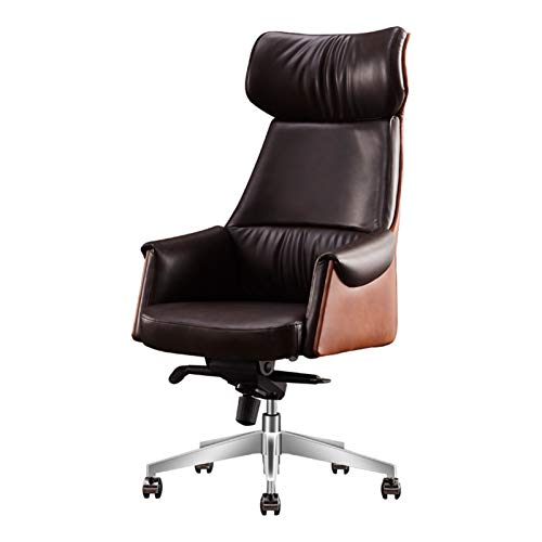 DJDLLZY Sillas para juegos de negocios, silla ejecutiva de cuero, silla reclinable giratoria y elevación,respaldo para el hogar cómodo silla de ordenador