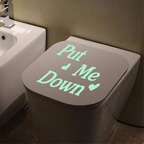 Yinew Abnehmbare Leuchtaufkleber Dekorativer Toilettensitzbezug Aufkleber Innendekoration Wasserdicht Abnehmbar
