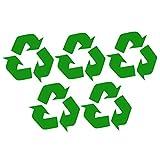 DOITOOL, 5 adesivi per bidoni della spazzatura, adesivi per il riciclaggio dei rifiuti, adesivi per bidoni della spazzatura da parete, per casa, cucina, ufficio