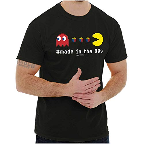 Pac-Man Eating Rubik's Cubes Made in the 80s T-shirt for Mne, Women, S to 5XL