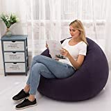 2021 New Bean Bag Chair,Household Lounger Bean Storage Bag, Lazy Sofa Chairs,Flocking Inflatable Sofa Chair,Waterproof Couch Cover for Living Room/Dorm Room/Outdoor/Travel (Navy, Lazy sofa 11011085cm)