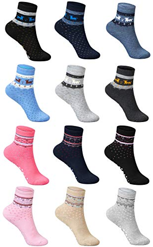 SG-WEAR 12 Paar Kinder Thermosocken für Jungen & Mädchen mit hohem Baumwollanteil warme ABS Thermo Socken in verschiedenen Motiven/Wintersocken in Größe 23-26, 27-30, 31-34, 35-38 (27-30, Boys)