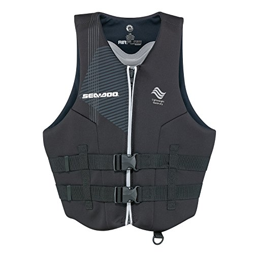 Great Deal! Sea-Doo New Airflow PFD Life Vest Black Men's Size 3XL XXXL 2858701690