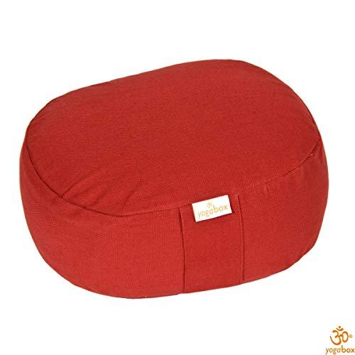 Yogilino® Reise Meditationskissen/Yogakissen Mini oval, Bordeaux