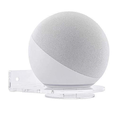 Kiner - Soporte de pared transparente para pasta de nuevo Echo Dot 4ª generación, soporte universal para Echo Dot (3ª generación), soporte de pared para Alexa Home Voice auxiliares