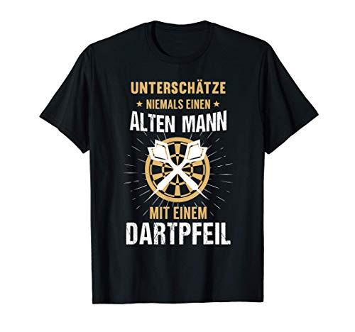 Herren Dartspieler Darts Papa Opa Vatertag Geburtstag Geschenk T-Shirt