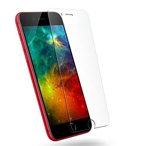 iPhone8plus ガラスフィルム iPhone7puls フィルム アイフォン8/7puls 液晶 保護フィルム 8 plus【1枚セット】 強化ガラス 保護ガラス ふぃるむ 【最高硬度9H/気泡ゼロ/自動吸着/透過率99.9%/貼り付け簡単】