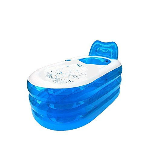 i-Shop faltbares stabiles Spa, aufblasbare Badewanne mit elektrischer Luftpumpe für Erwachsene, in blau