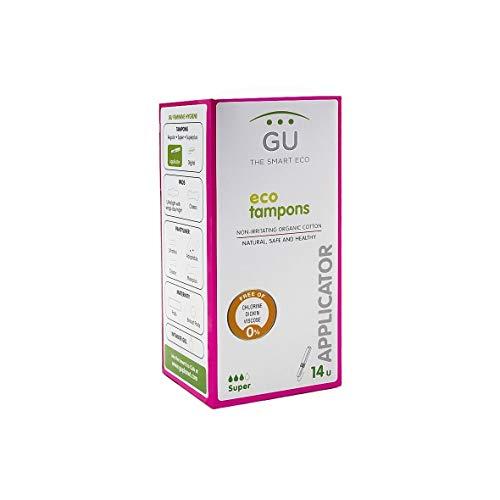 Tampones de algodón ecológico con aplicador biodegradable - Sin plásticos - Hipoalergénicos (Talla: Súper)