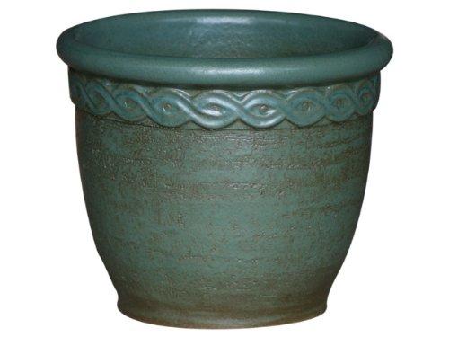 Cléopâtre jardinière, 47 x 39 cm (vert mat frostbeständiger grès, en céramique