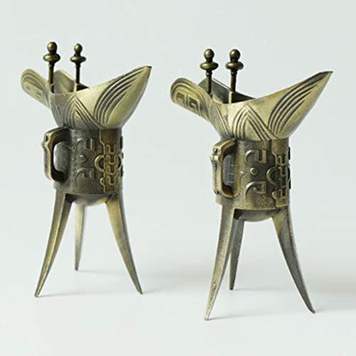 KSTORE Gafas de Metal, Taza de la Vendimia, Antiguos Vasos d