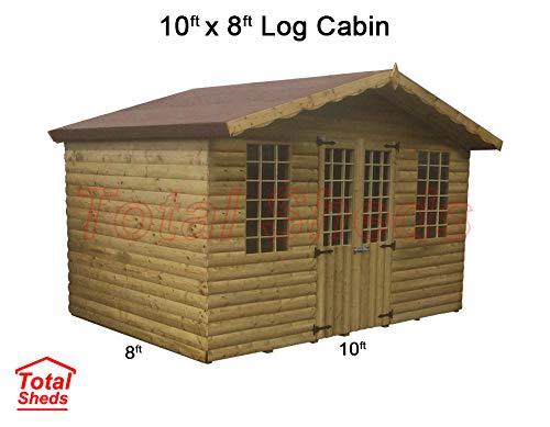 Total Sheds 10ft (3m) x 8ft (2.4m) Summer House Log Cabin Ultimate Cabin