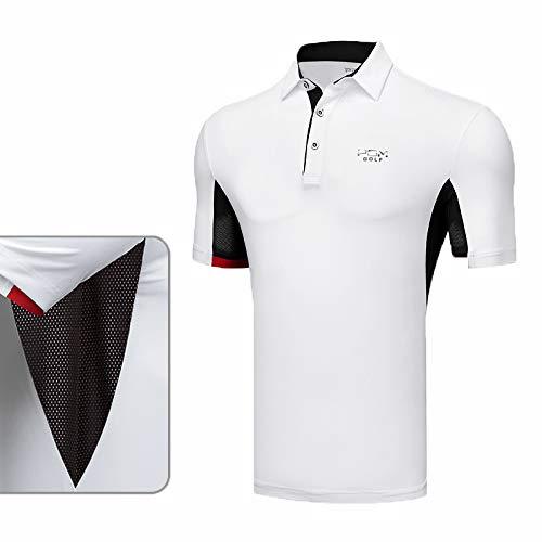 HCCX Men's golf shirt, Armpit mesh bloedsomloop, Lichtgewicht, anti-vouwen, Casual golf T-Shirt