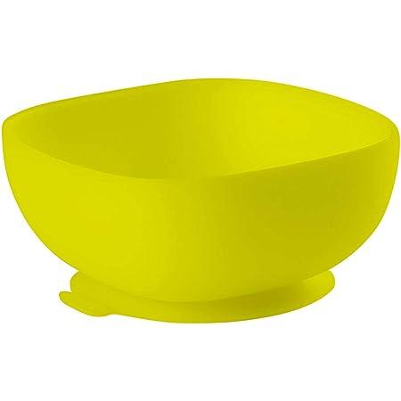 BÉABA - Ciotola in Silicone con Ventose, Scodella per Neonati e Bambini, Antiscivolo, Aderisce Ottimamente al Tavolo o al ripiano del Seggiolone, Compatibile con Microonde, Grigia