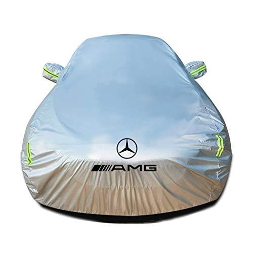 SjYsXm Funda Coche Impermeable Compatible con Mercedes-Benz GLS (X167) GLS 350d (286 HP) 4MATIC G-TRONIC 2019-2021, Transpirable Cubierta Coche para Invierno Verano Cubre con Tira Fluorescente