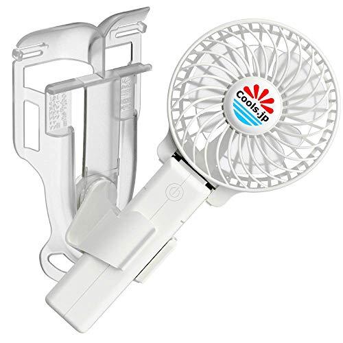 エアシャツ扇風機(服の中へ送風)えりかけ扇風機 USB充電池式 ハンズフリー ハンディファン 携帯扇風機 (3インチファン, 白)