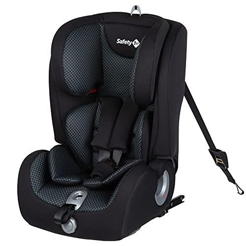 Safety 1St Ever Fix Seggiolino Auto 9-36 Kg Isofix, Gruppo 1/2/3, per Bambini 9 Mesi-12 Anni, con Cuscino Riduttore, Colore Pixel Black