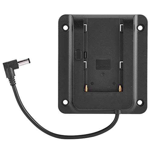 Camera Battery Adapter Plate for Sony NP-F970 F550 F770 F970 F960 F750 Batteries Accessory, Compatible with All VESA Monitors with 75mm Hole Spacing