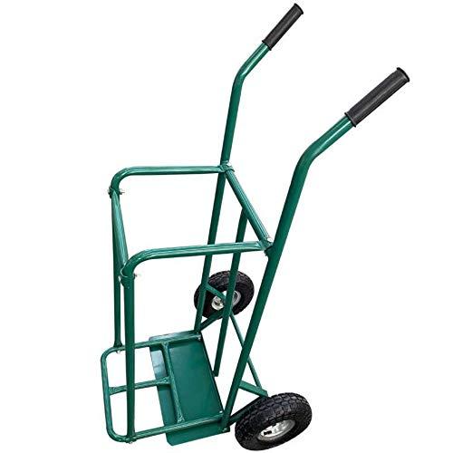 Werkapro Chariot Diable de Jardin Porte Roues-avec 2 Barres de Maintien de bûches et Poignées antidérapantes-Charge 250 Kg-63 cm x 119 cm-11316, Vert