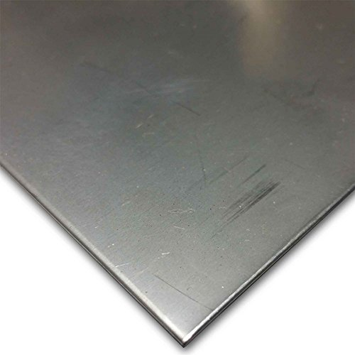 Online Metal Supply 304 (2B, Bright Cold Rolled) Stainless Steel Sheet 0.018' (26 ga.) x 12' x 12'