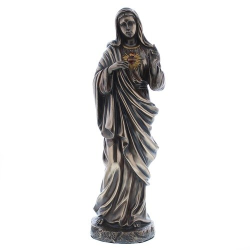 """11/"""" Immaculate Heart of Mary Bronzed Statue"""