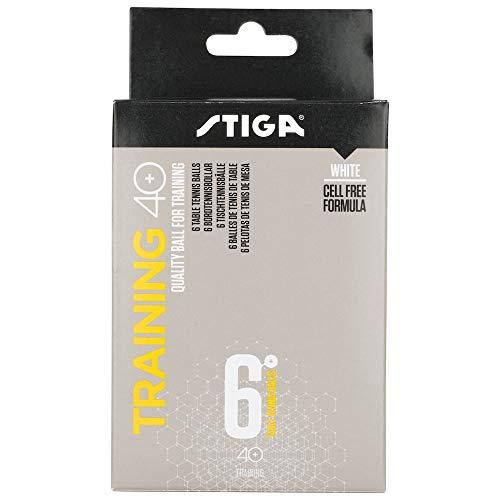 Stiga Trainer ABS 40+ Pack 6u. Blancas