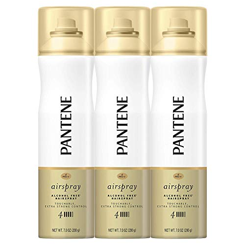 Pantene Hairspray, Extra Strong Control, Pro-V Level 4 Airspray, 7 fl oz, Triple Pack