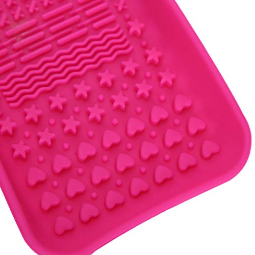 Cepillo de maquillaje Almohadilla limpiadora Cepillo Scruber Mat Conveniente alfombrilla de cepillo cosmético para uso doméstico para uso en salones de belleza