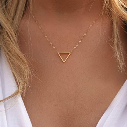 Jovono - Collar con colgante de triángulo para mujer y niña