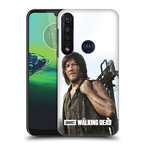 Officiële AMC The Walking Dead Daryl Kruisboog Gefilterde tekens Hard Back Case Compatibel voor Motorola Moto G8 Plus